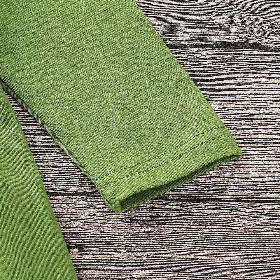 "Set 3 piese ""Bufnita colorata"", bluza verde tip rochita, pantaloni inflorati si esarfa"