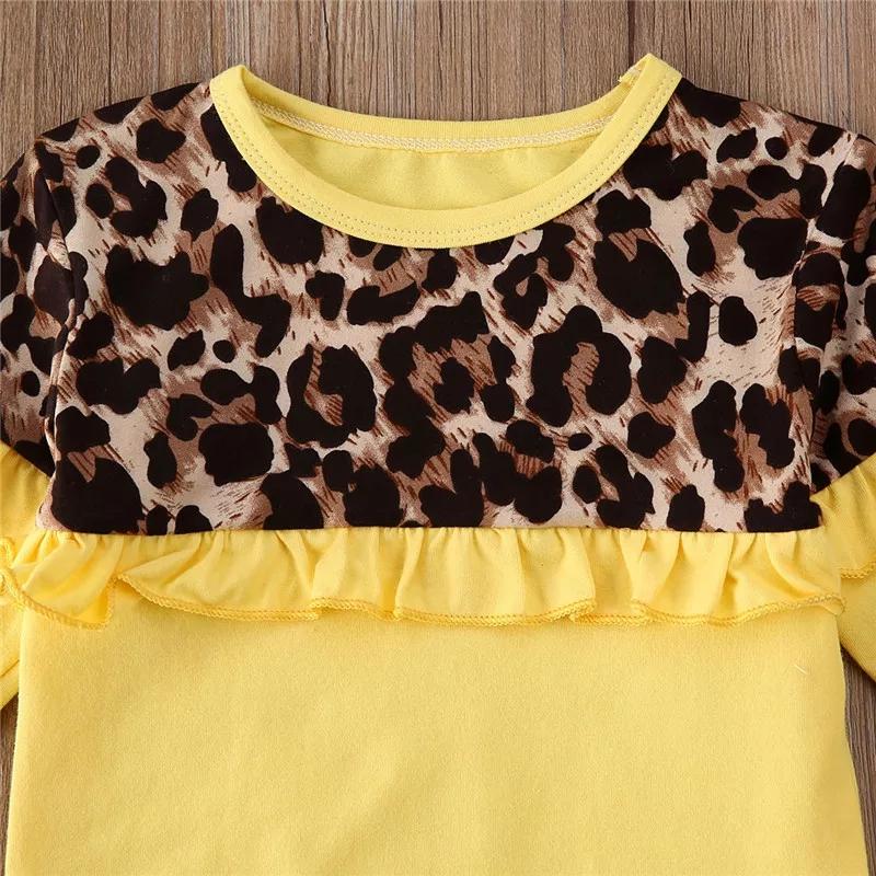 Set galben 2 piese , bluza maneca lunga cu model animal print si pantaloni