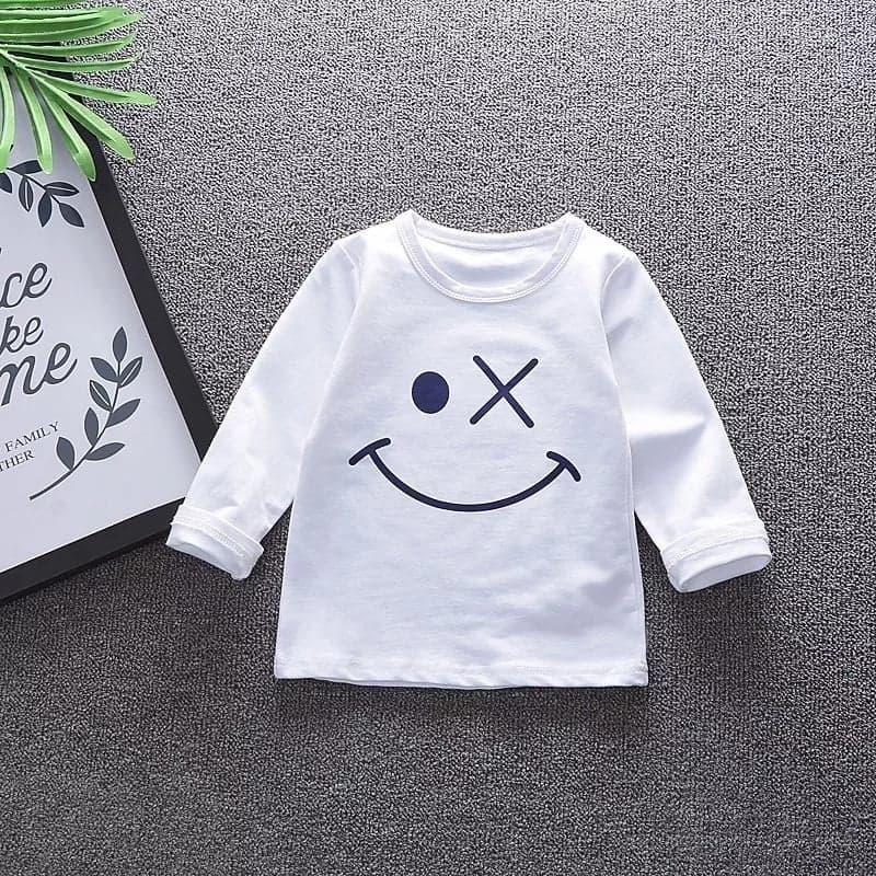 Set 3 piese Smiley pulover cu fermoar, bluza maneca lunga, pantalon bleumarin
