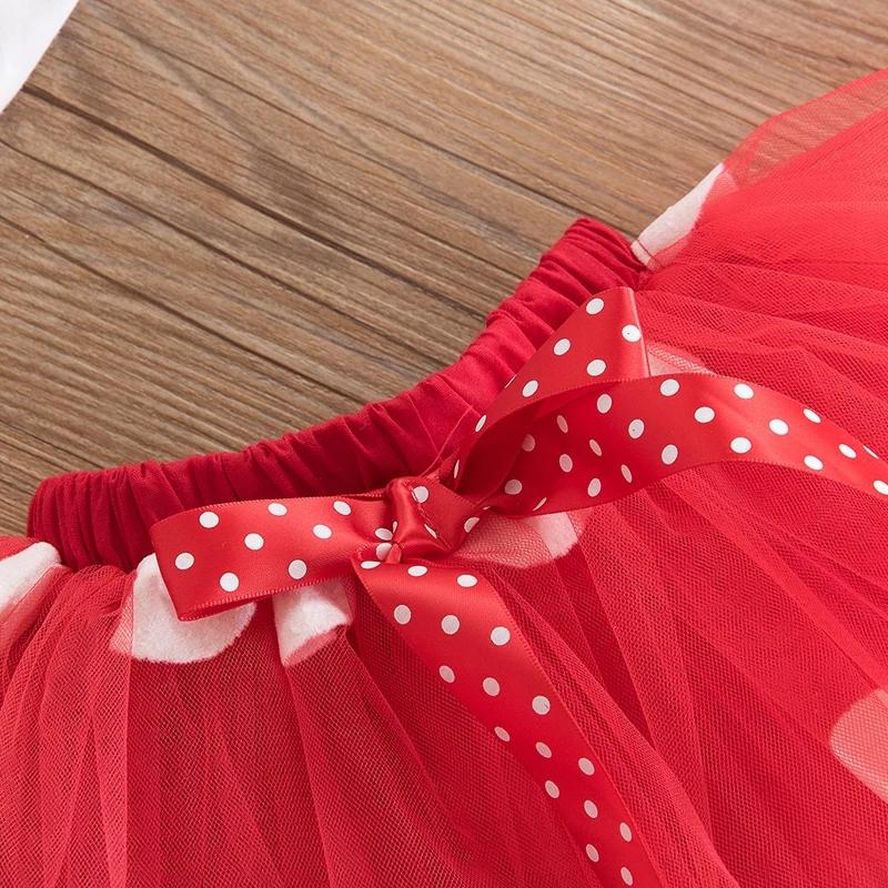 """Set aniversare 2 ani """"Minnie"""" , fusta tull rosie, body alb si coronita"""