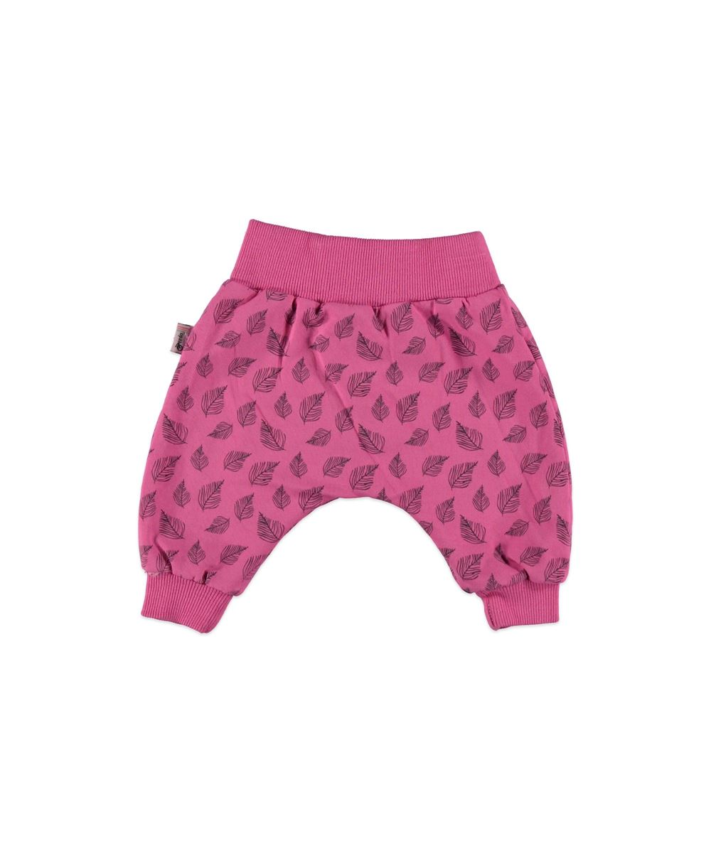 """Pantaloni roz de trening,  dublati """"Frunza in vant"""""""