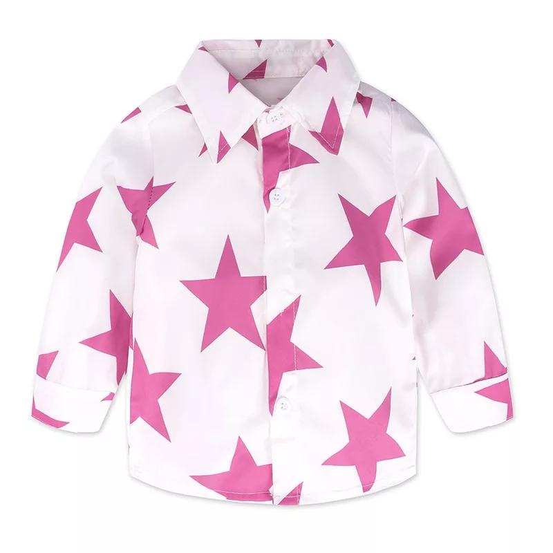 "Set 2 piese "" Steluta roz"", camasa maneca lunga, blugi rupti"