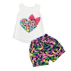 Set Inimioara cu pantalon multicolor 2 piese