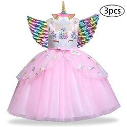 "Rochie tull roz "" Printesa unicorn"" cu MIC DEFECT"