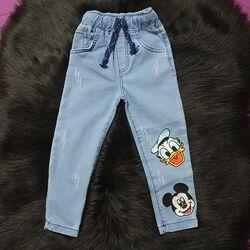 "Blugi bleu super-skinny ""Mickey si Donald"""