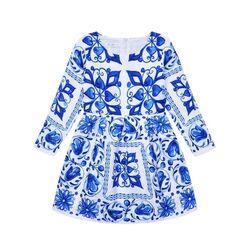 Rochie alba eleganta , model albastru stil baroc