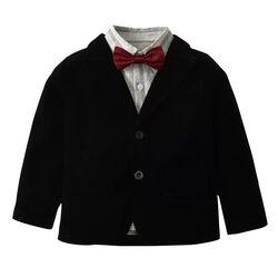 Sacou elegant, negru, de catifea