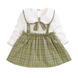 """Rochie verde maneca lunga """"Look de scolarita"""""""