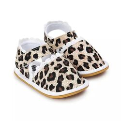 Sandalute bebelusi model animal print, inchidere scai