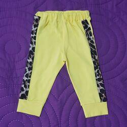 Pantaloni trening, galbeni, cu insertie laterala animal print