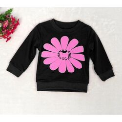 "Bluza ""Floare roz"", maneca lunga"