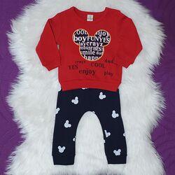 """Set 2 piese """"Soricelul cool"""" , bluza rosie maneca lunga, pantaloni bleumarin"""