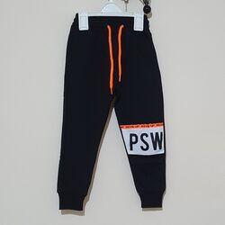"""Pantaloni negri de trening """"PSW"""""""