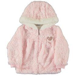 Jacheta roz, subtire , cu gluga, din blanita