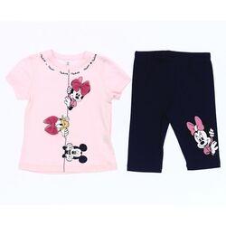 """Set vara 2 piese """" Prieteni jucausi"""" , tricou roz, leggings bleumarin 1/2"""