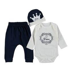 "Set 3 piece ""Prince"", body , pantaloni si caciulita"