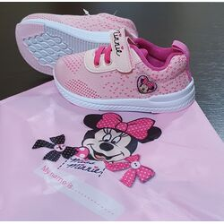 "Adidasi roz ""Minnie"", talpa alba, saculet inclus, marca Disney"