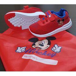 "Adidasi rosii "" Mickey"", talpa alba, marca Disney"