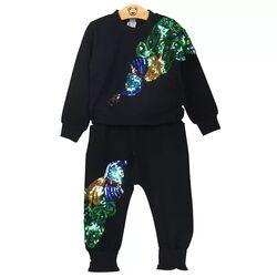 "Trening 2 piese ""Magia paunului"" , bluza si pantaloni negri"