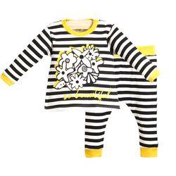 "Set 2 piese "" Zebra glam"", bluza maneca lunga si pantaloni in dungi"