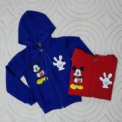 """Hanorac """"Mickey"""" cu gluga si fermoar"""