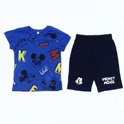 "Set vara 2 piese "" Mickey"", tricou albastru, pantaloni scurti bleumarin"